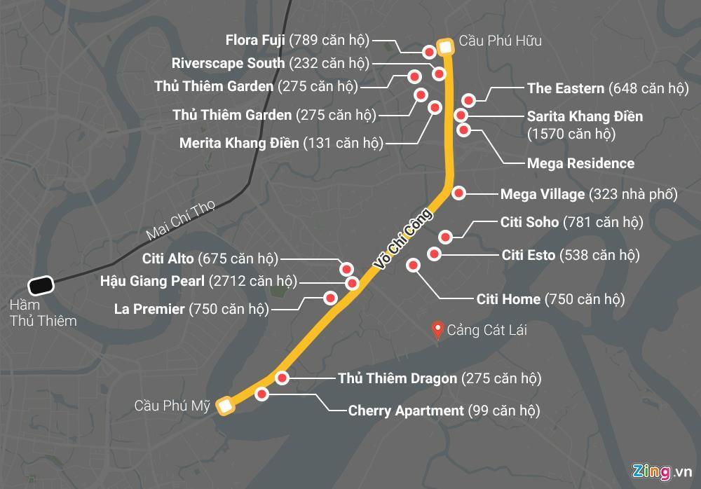 Vành đai 2 TP HCM dang dở đã kín chung cư vây quanh - Ảnh 1.