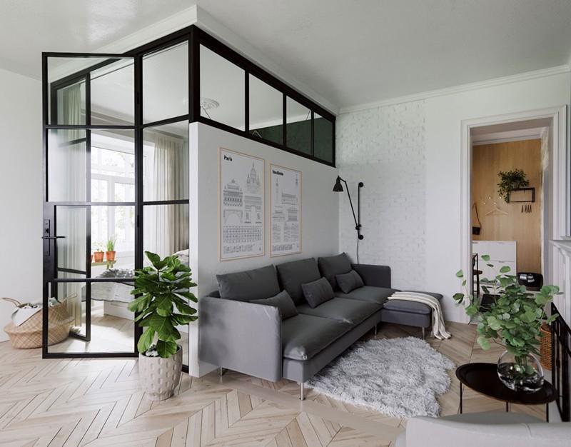 Căn hộ nhỏ, đẹp có cách bố trí nội thất đơn giản - Ảnh 1.