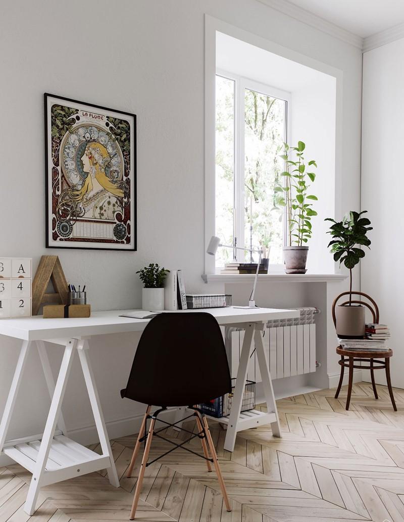 Căn hộ nhỏ, đẹp có cách bố trí nội thất đơn giản - Ảnh 4.