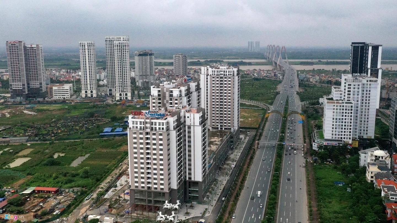 Rừng chung cư dọc tuyến đường ngoại giao ra sân bay Nội Bài - Ảnh 2.