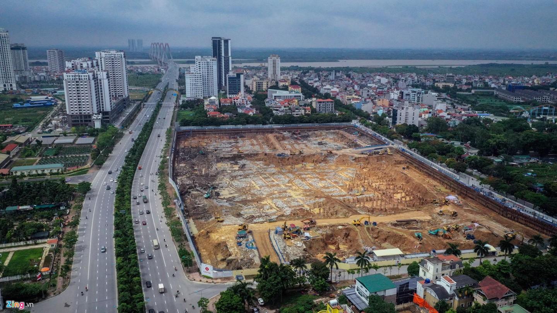 Rừng chung cư dọc tuyến đường ngoại giao ra sân bay Nội Bài - Ảnh 6.