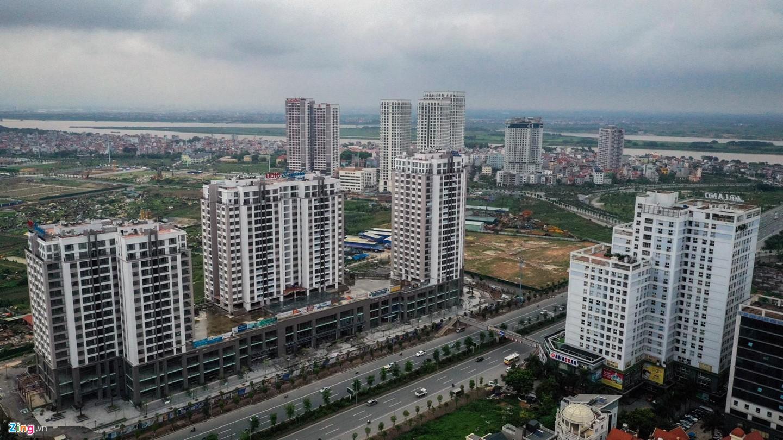 Rừng chung cư dọc tuyến đường ngoại giao ra sân bay Nội Bài - Ảnh 10.