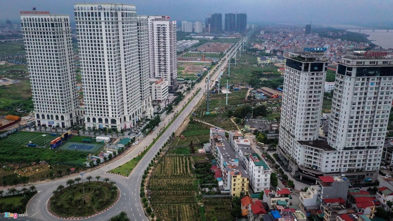 Rừng chung cư dọc tuyến đường ngoại giao ra sân bay Nội Bài - Ảnh 3.