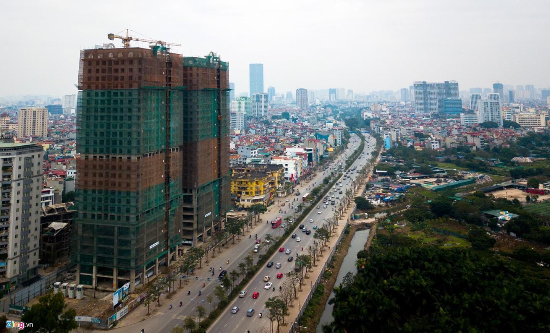Rừng chung cư dọc tuyến đường ngoại giao ra sân bay Nội Bài - Ảnh 13.