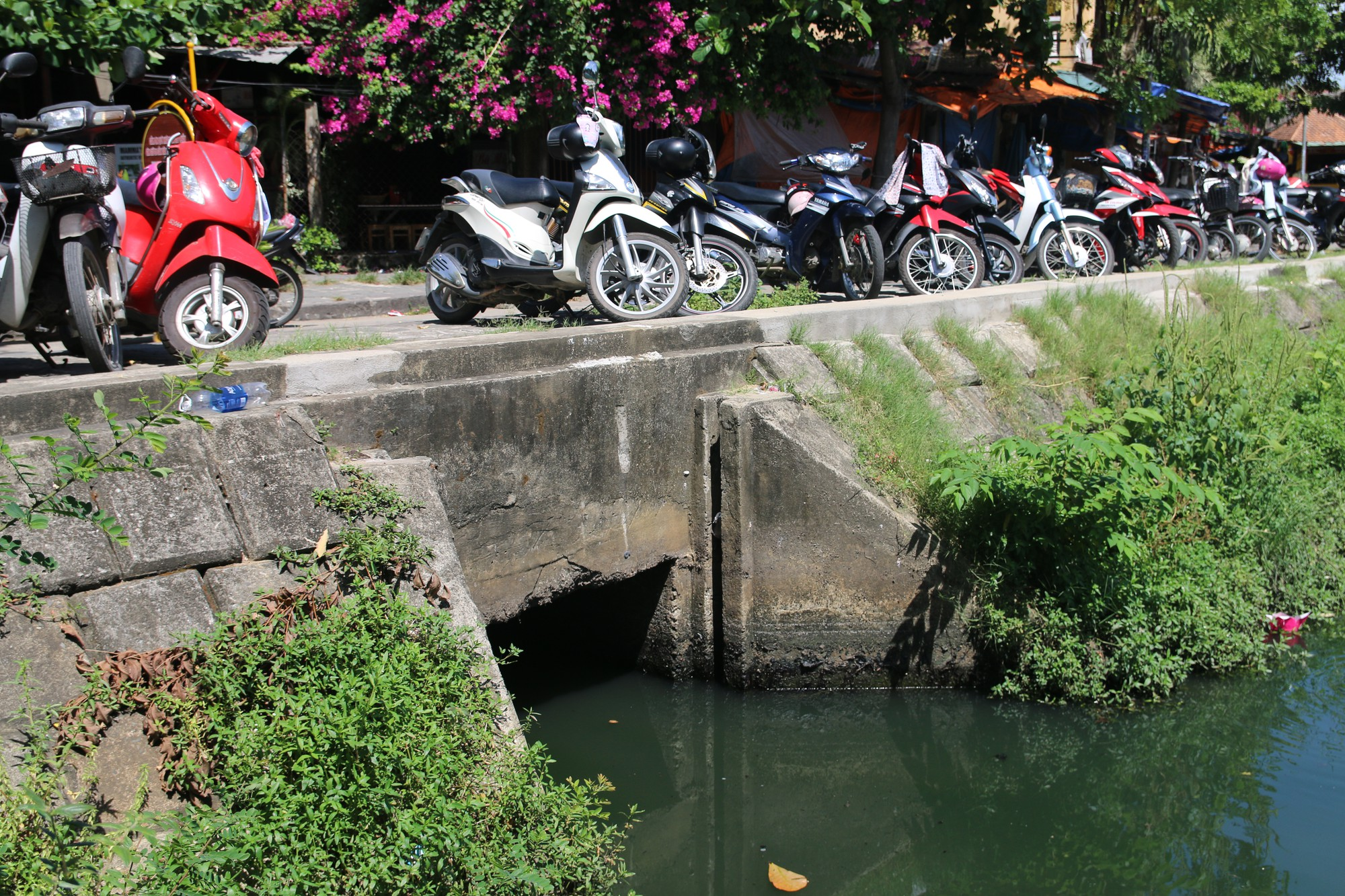 Khách du lịch nín thở vì nước thải, ô nhiễm ở Chùa Cầu Hội An - Ảnh 10.