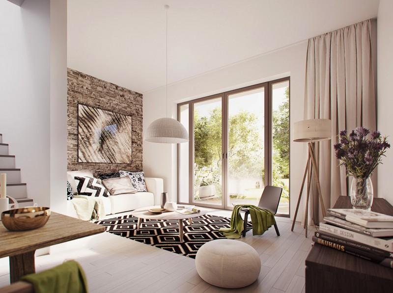 Mẫu phòng khách đẹp dành cho nhà phố - Ảnh 1.