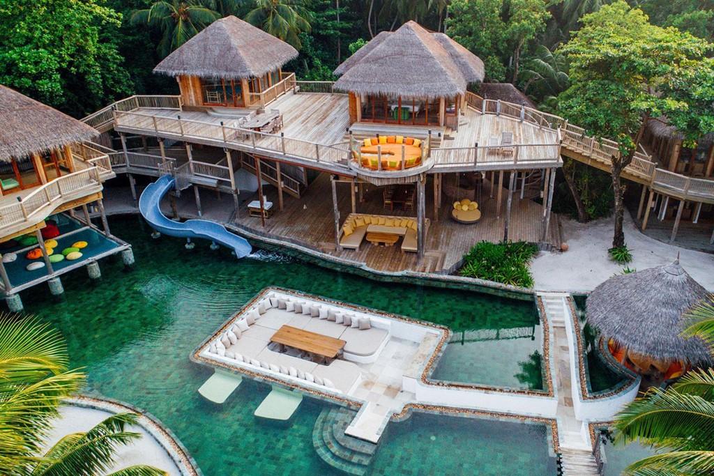 Khu biệt thự 9 phòng ngủ sang chảnh nổi tiếng Maldives - Ảnh 1.