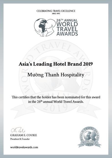 Thanh tiếp tục lọt đề cử 'Thương hiệu khách sạn hàng đầu Châu Á 2019 của WTA - Ảnh 1.