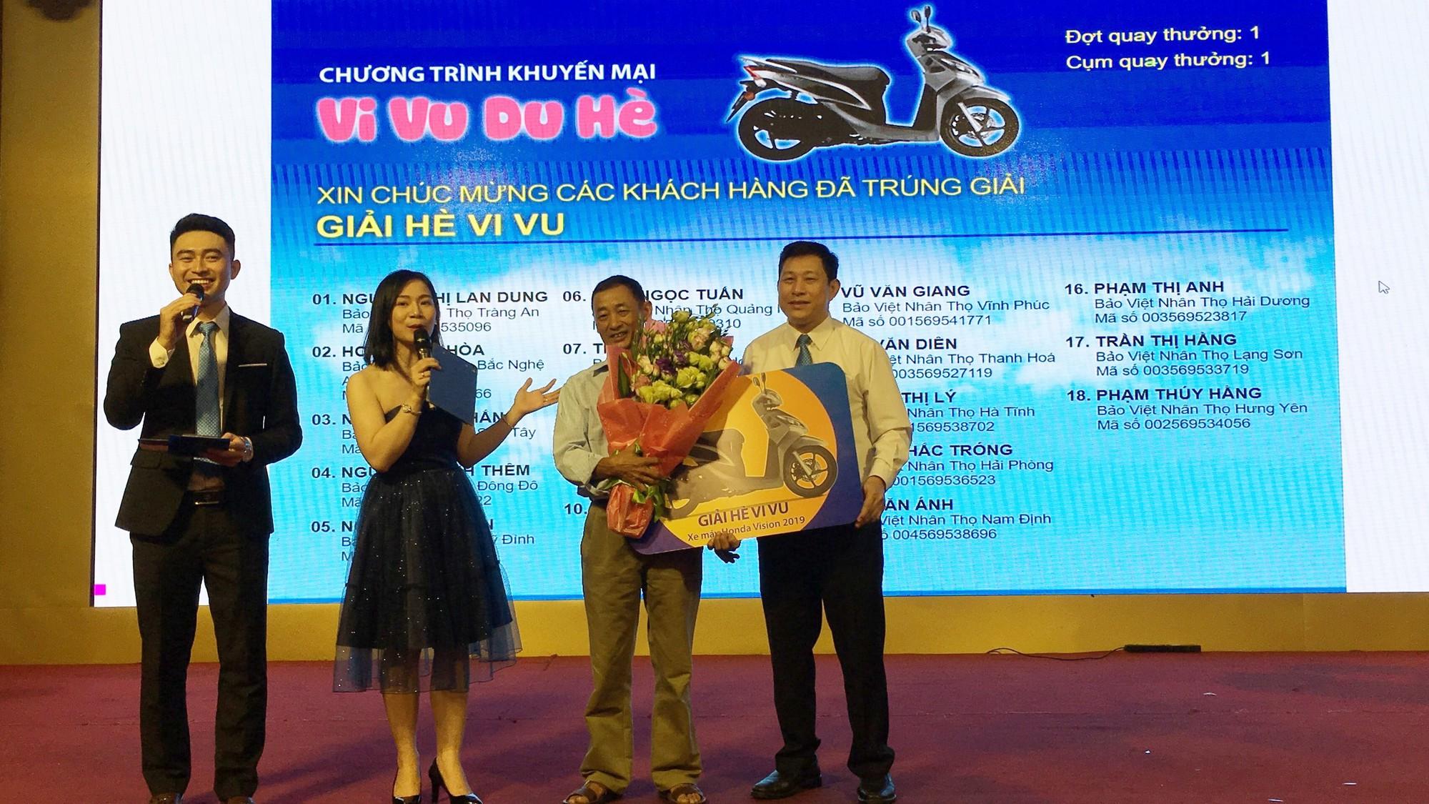 KH Trần Văn Định tại Nghệ An đã trúng thưởng xe máy từ chương trình Vi Vu Du Hè