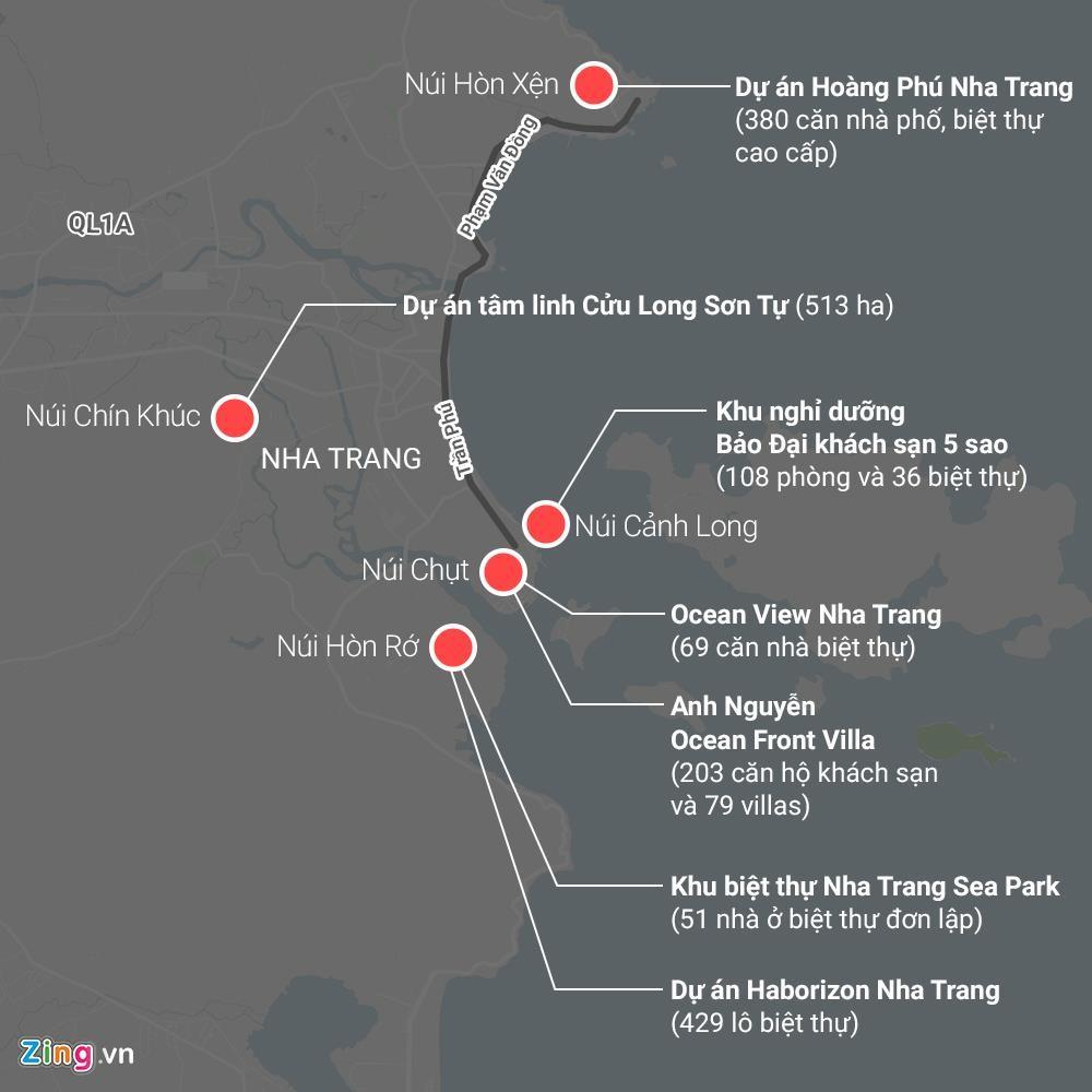 La liệt các vụ 'cạo trọc' núi ở Nha Trang để làm bất động sản - Ảnh 1.