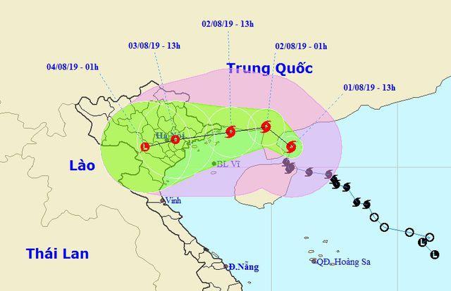Bão số 3 đổi hướng trước khi đổ bộ vào Quảng Ninh - Thái Bình - Ảnh 1.
