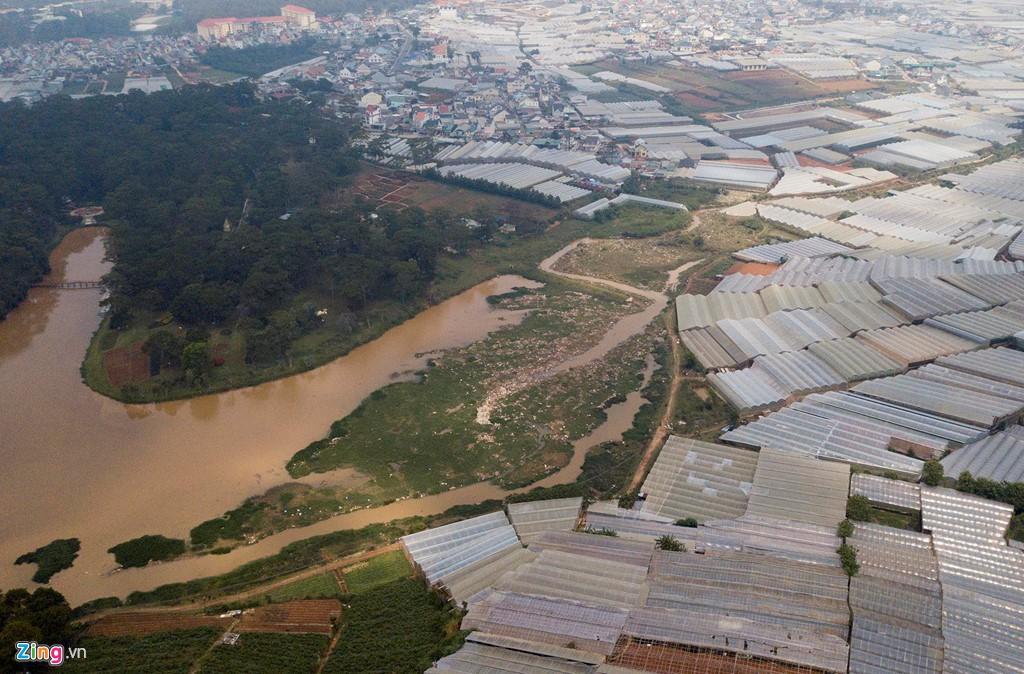 Nhà kính phủ trắng đồi khiến Đà Lạt thành sông - Ảnh 10.