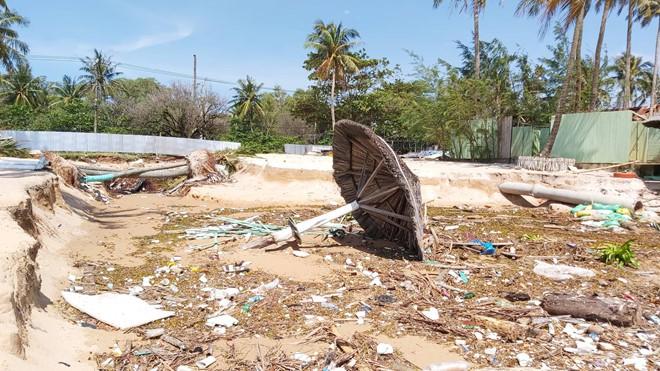Đoạn bờ biển Phú Quốc tan hoang sau hai trận ngập lịch sử - Ảnh 14.