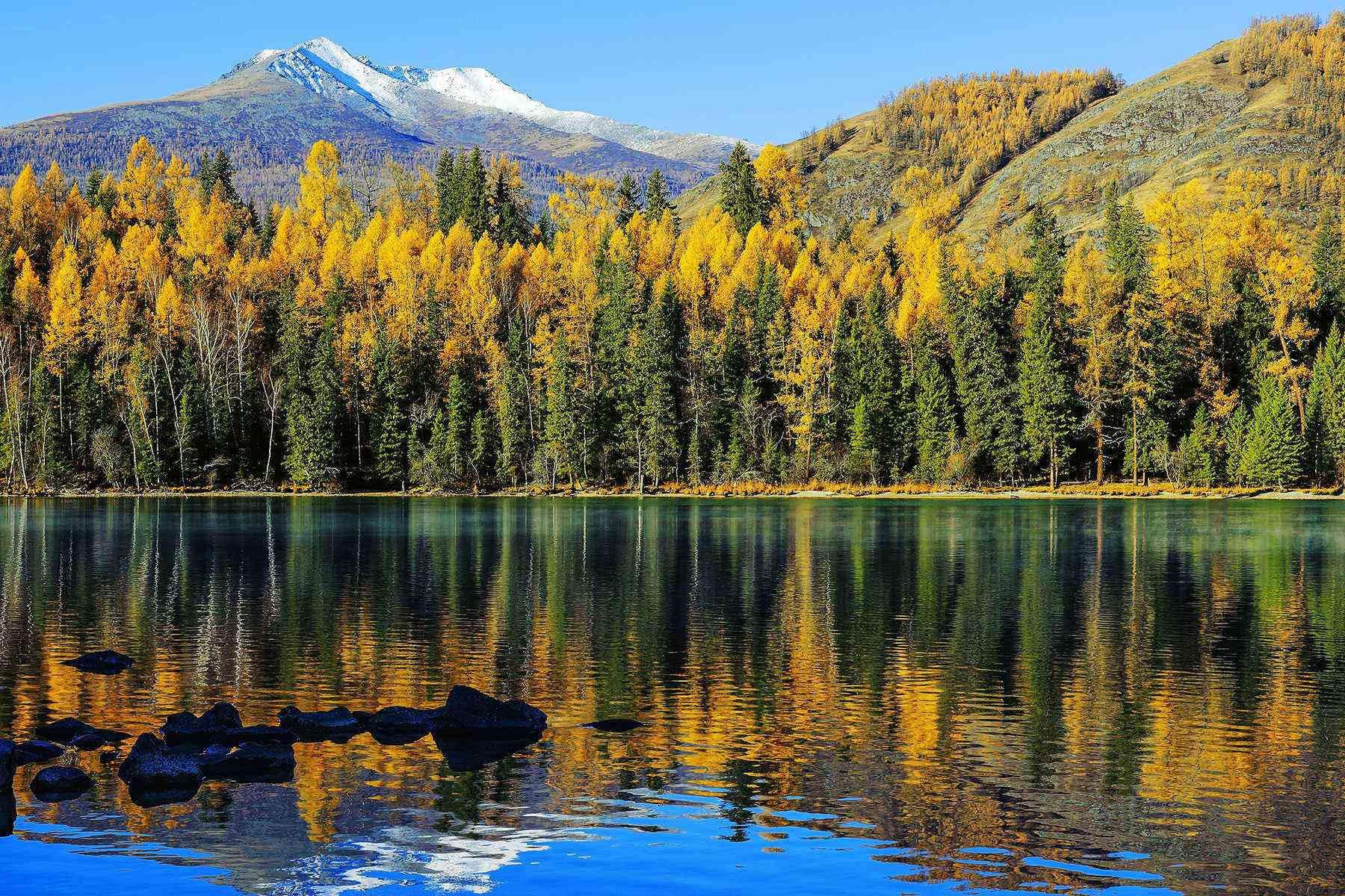 Leaf-Peeping-China-Kanas-Lake