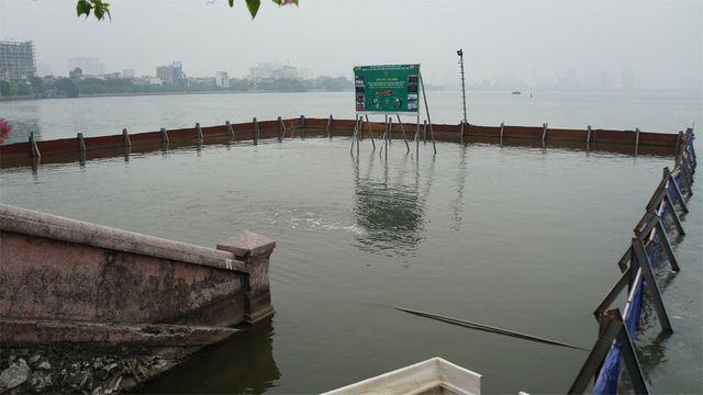Cá chết nổi bốc mùi hôi thối ở Hồ Tây, hồ Đắc Di - Ảnh 11.