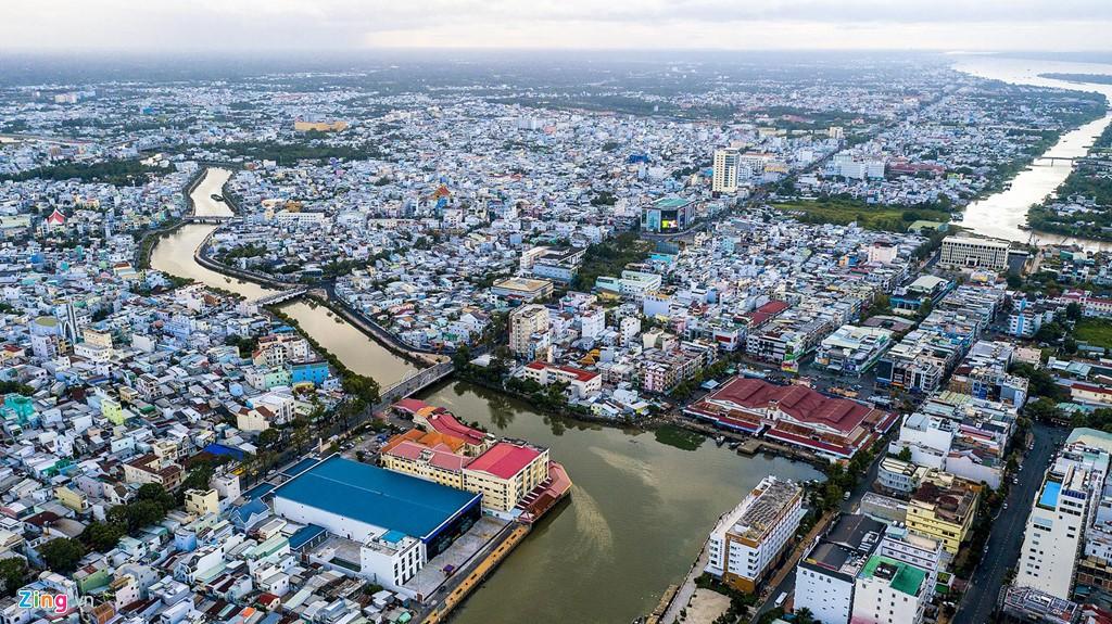 Hệ thống kênh đào đẹp hàng đầu thế giới ở Cần Thơ nhìn từ trên cao - Ảnh 4.