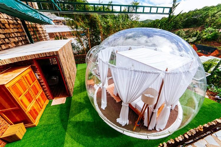Cực hot: Xuất hiện khách sạn bong bóng ở Đà Lạt 'chất' không kém Bali - Ảnh 1.