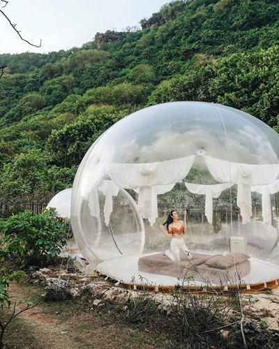 Cực hot: Xuất hiện khách sạn bong bóng ở Đà Lạt 'chất' không kém Bali - Ảnh 10.