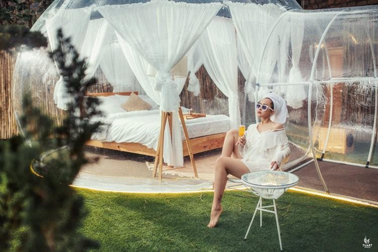 Cực hot: Xuất hiện khách sạn bong bóng ở Đà Lạt 'chất' không kém Bali - Ảnh 3.