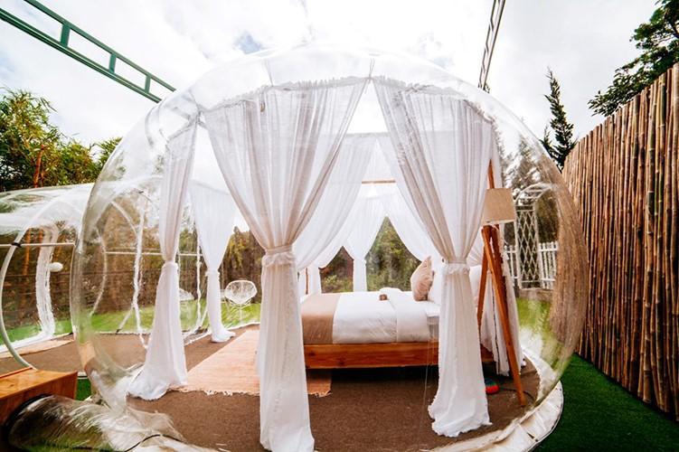 Cực hot: Xuất hiện khách sạn bong bóng ở Đà Lạt 'chất' không kém Bali - Ảnh 4.