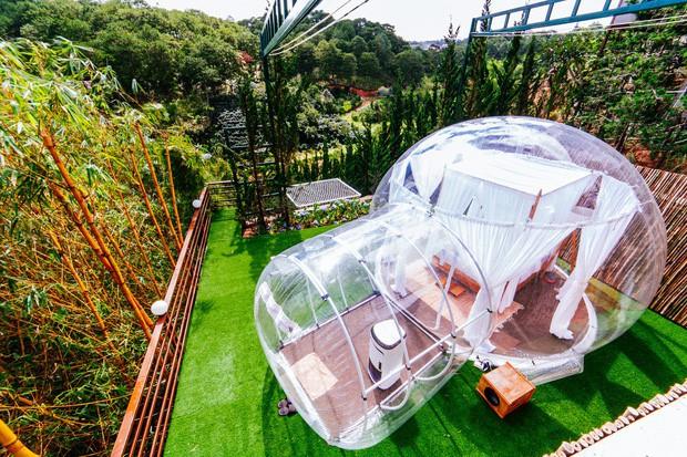 Cực hot: Xuất hiện khách sạn bong bóng ở Đà Lạt 'chất' không kém Bali - Ảnh 7.