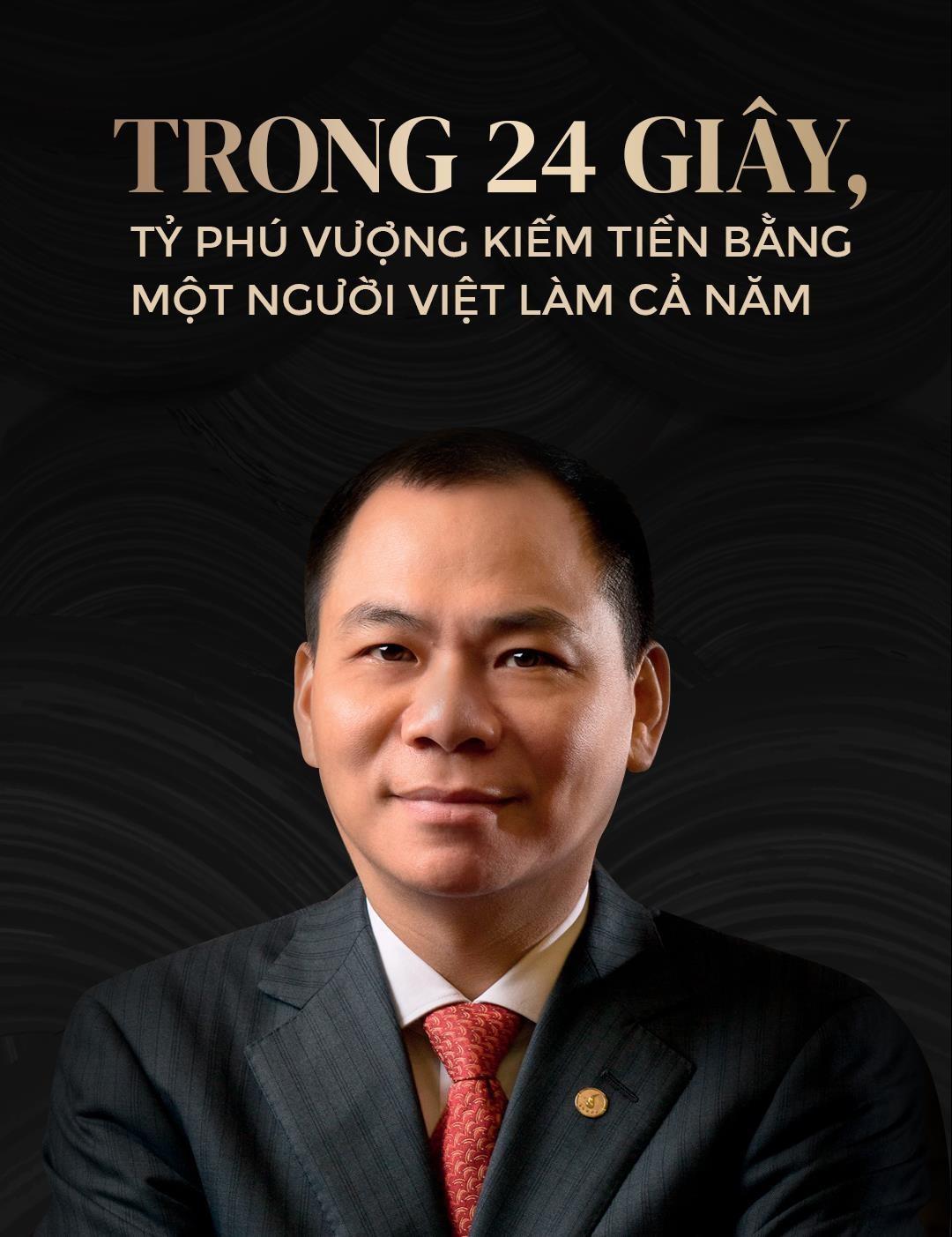 Trong 24 giây, tỉ phú Vượng kiếm tiền bằng một người Việt làm cả năm - Ảnh 1.