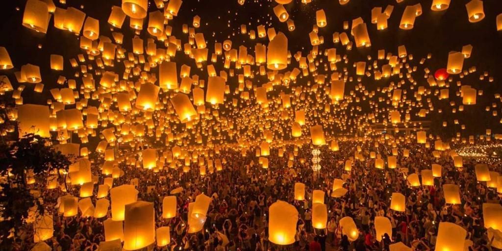 Tháng 11, Thái Lan hóa miền cổ tích trong lễ hội thả đèn trời - Ảnh 1.
