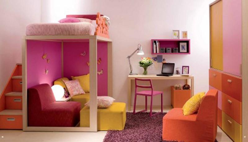 Căn phòng của trẻ được thiết kế bằng gam màu sặc sỡ - Ảnh 1.
