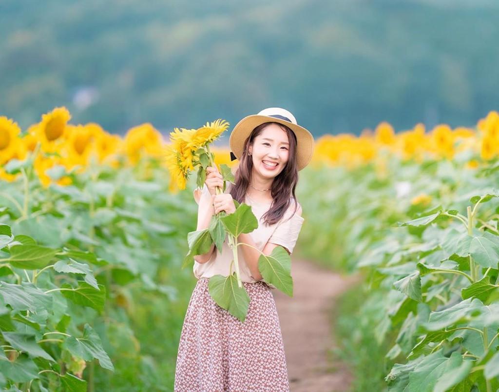 Đồng hoa hướng dương triệu bông ở Nhật đẹp như tranh vào mùa thu - Ảnh 5.