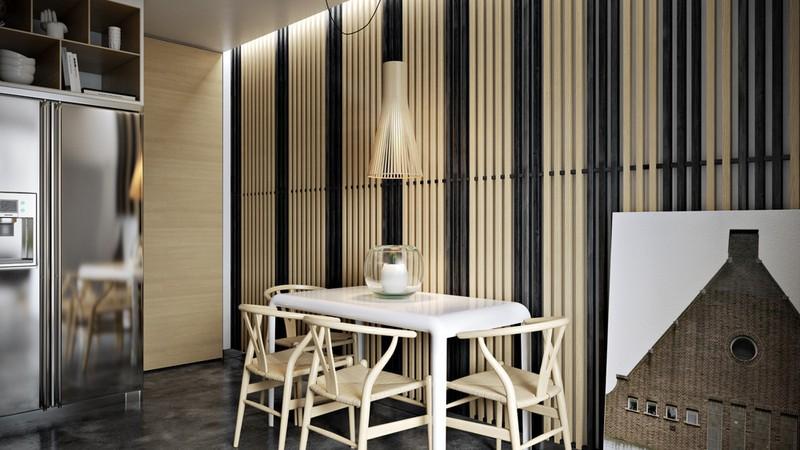 Nội thất căn hộ truyền cảm hứng với trần bê tông và sàn gỗ - Ảnh 8.