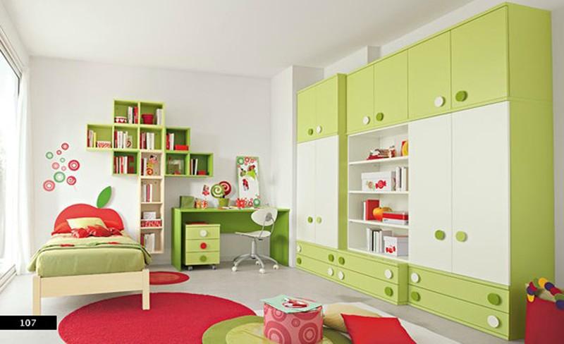 Thiết kế phòng của trẻ bằng sự kết hợp màu trắng với màu sắc sặc sỡ - Ảnh 1.