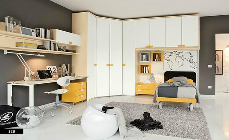 Thiết kế phòng của trẻ bằng sự kết hợp màu trắng với màu sắc sặc sỡ - Ảnh 7.