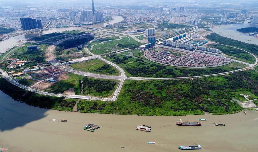 TP HCM sẽ đấu giá 4/15 lô đất 'vàng' ở Thủ Thiêm - Ảnh 1.