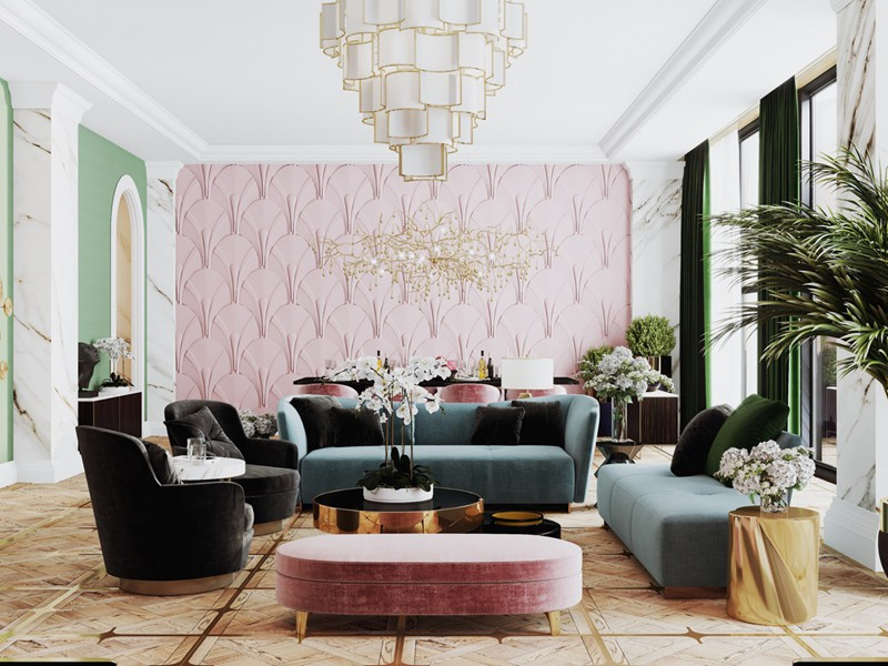 Bí quyết trang trí phòng khách màu hồng khiến vạn người mê - Ảnh 14.