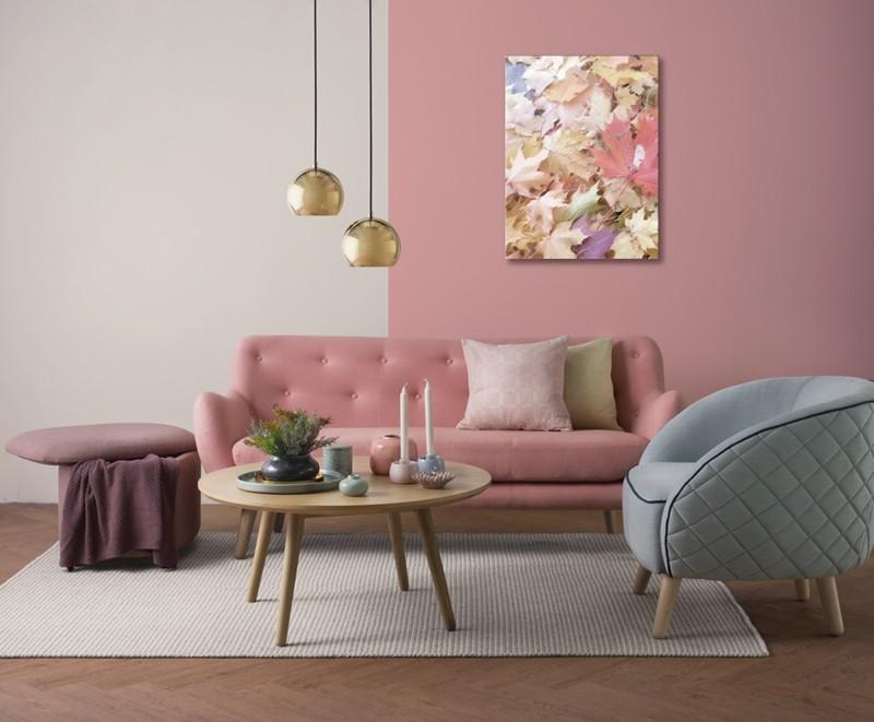 Bí quyết trang trí phòng khách màu hồng khiến vạn người mê - Ảnh 5.