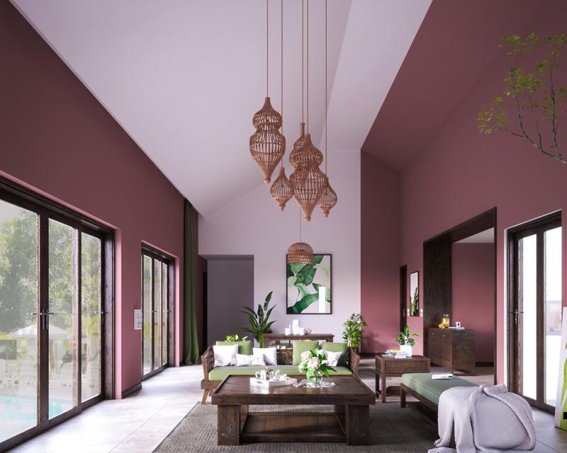 Bí quyết trang trí phòng khách màu hồng khiến vạn người mê - Ảnh 6.