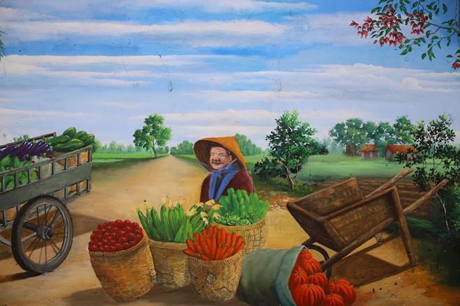 Dạo bước ngôi làng bích họa đầu tiên của Hà Nội - Ảnh 9.