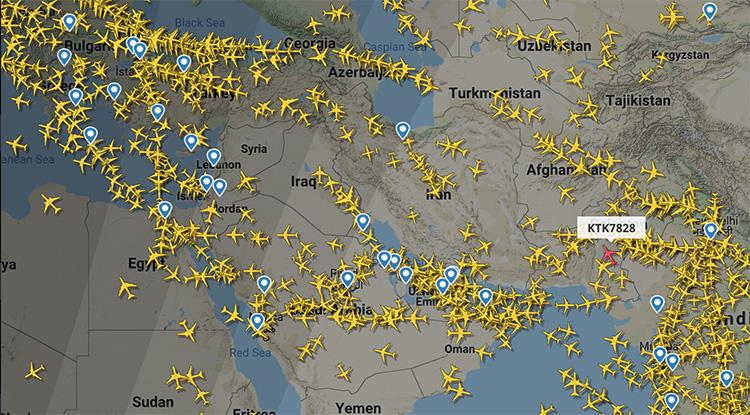 Hàng không châu Á tránh bay qua Iran - Ảnh 2.