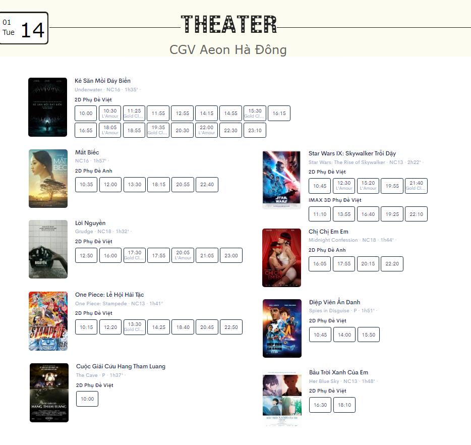 Lịch chiếu phim ngày mai (14/1) tại một số rạp CGV Hà Nội - Ảnh 10.