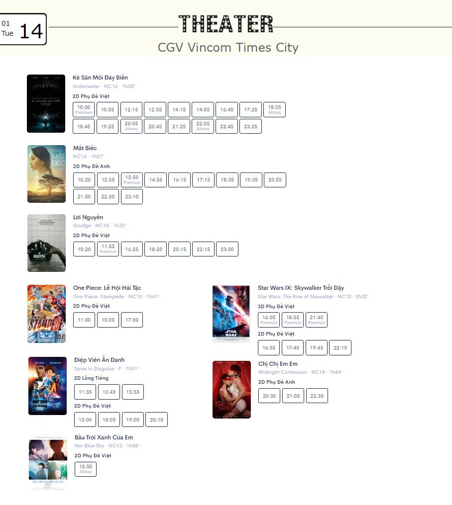 Lịch chiếu phim ngày mai (14/1) tại một số rạp CGV Hà Nội - Ảnh 7.