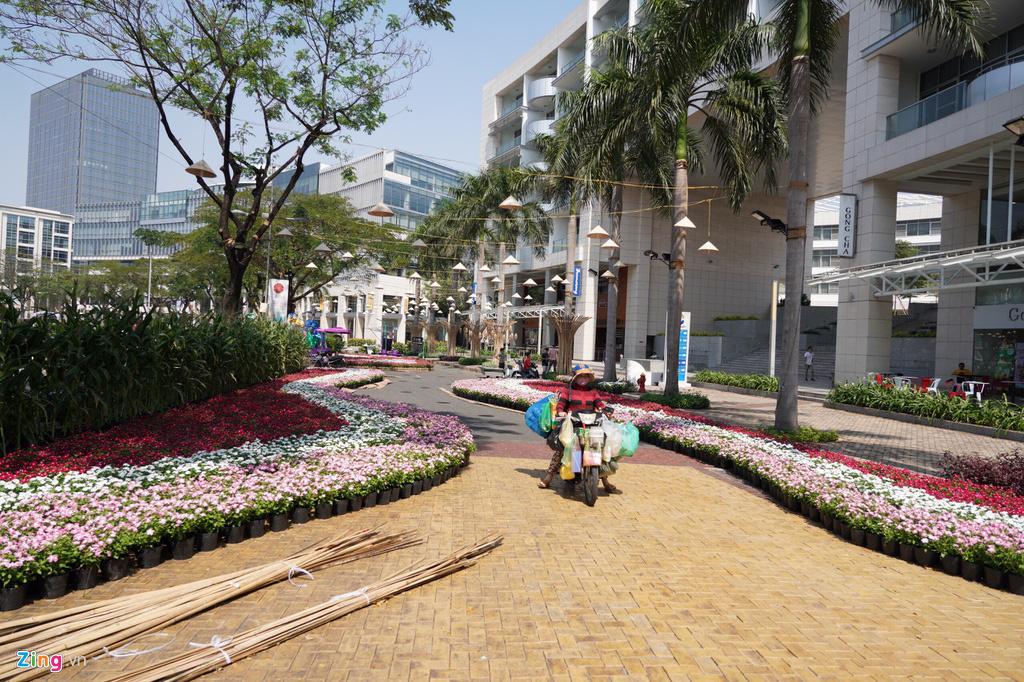 Những hình ảnh đầu tiên của đường hoa Phú Mỹ Hưng - Ảnh 4.
