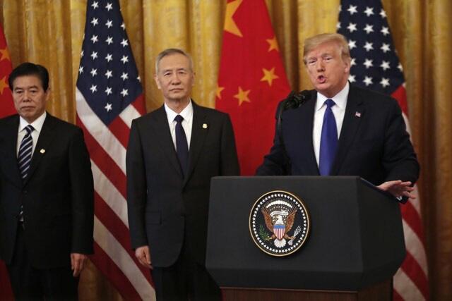 Mỹ - Trung Quốc kí thoả thuận thương mại giai đoạn 1 - Ảnh 2.