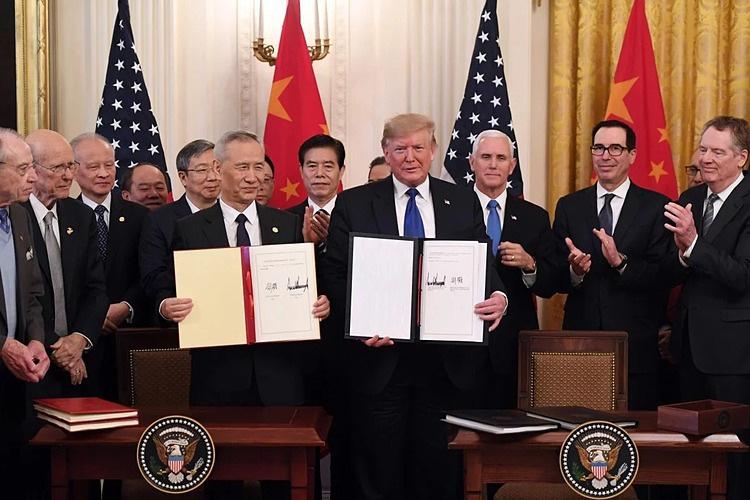 Mỹ - Trung Quốc kí thoả thuận thương mại giai đoạn 1 - Ảnh 1.