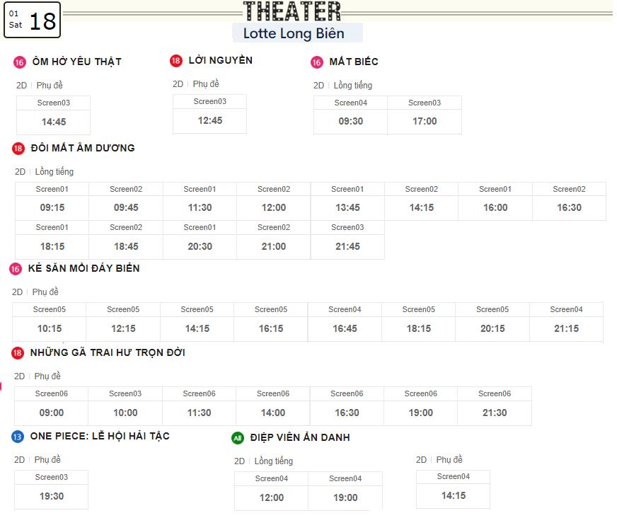 Lịch chiếu phim ngày mai (18/1) tại các rạp Lotte Hà Nội - Ảnh 5.