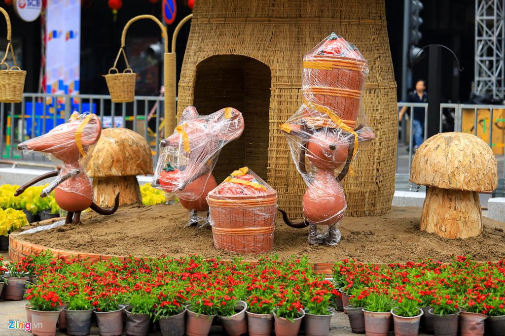 Đường hoa Nguyễn Huệ rực rỡ sắc màu trước giờ khai mạc - Ảnh 7.