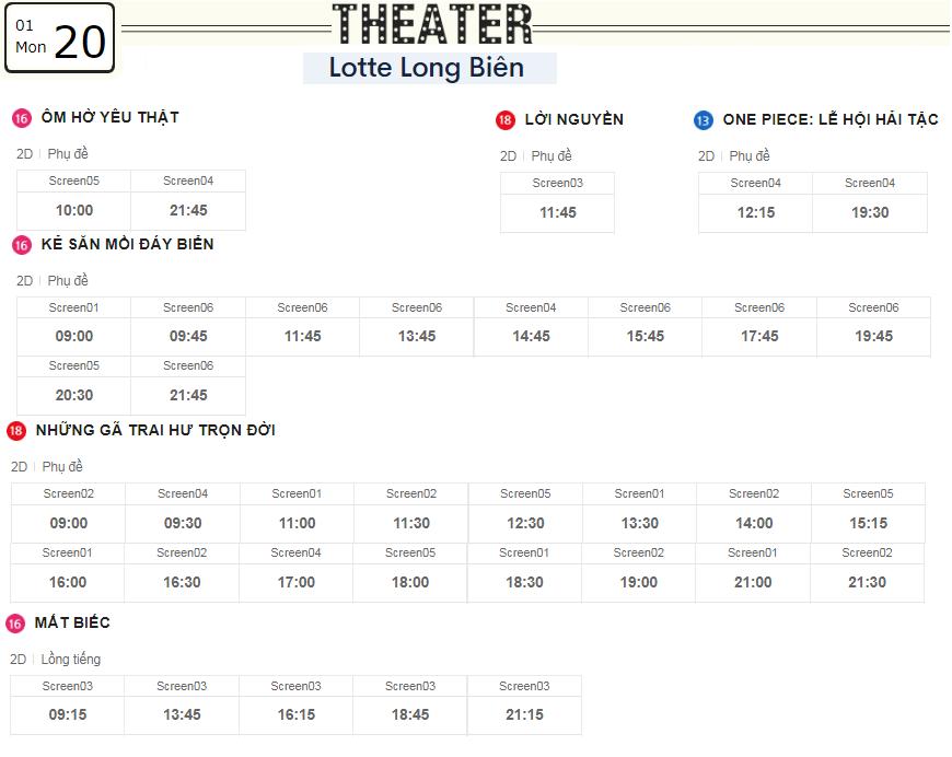 Lịch chiếu phim ngày mai (20/1) tại các rạp Lotte Hà Nội - Ảnh 5.