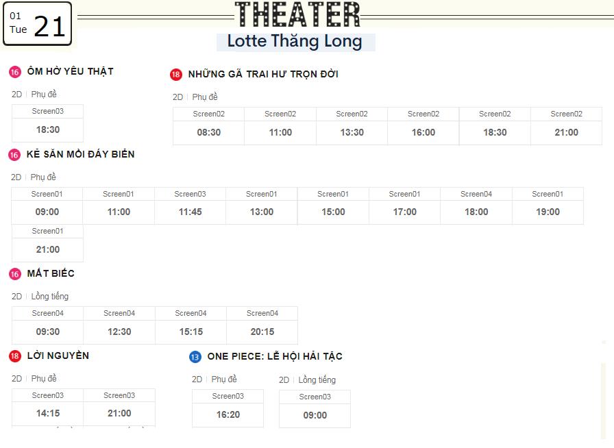 Lịch chiếu phim ngày mai (21/1) tại các rạp Lotte Hà Nội - Ảnh 4.