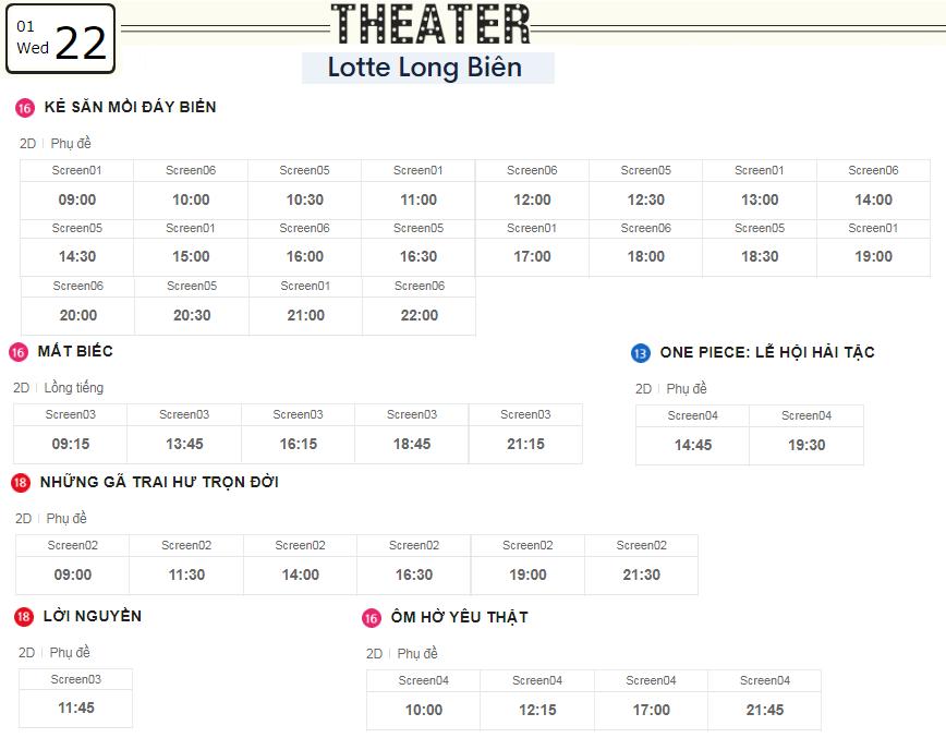 Lịch chiếu phim ngày mai (22/1) tại các rạp Lotte Hà Nội - Ảnh 5.