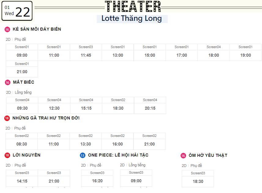 Lịch chiếu phim ngày mai (22/1) tại các rạp Lotte Hà Nội - Ảnh 4.