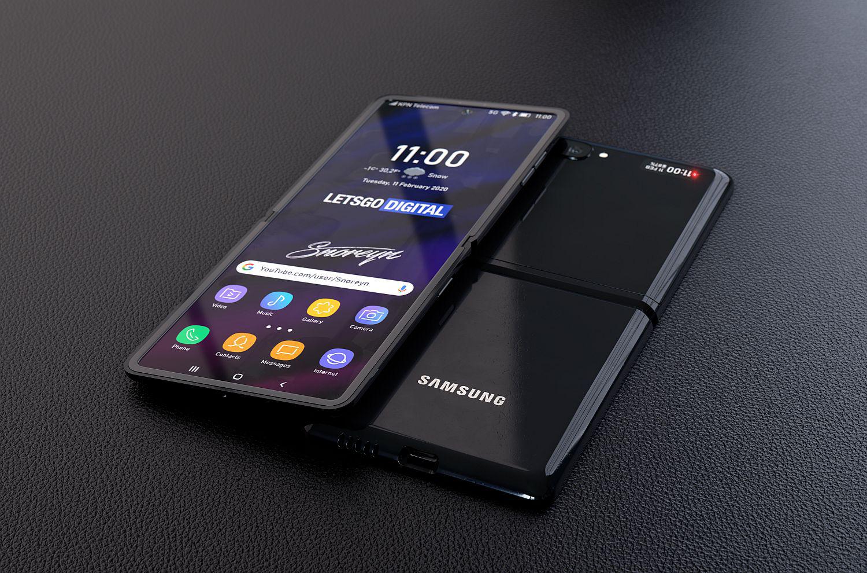 Lộ diện concept rõ nét nhất của Samsung Galaxy Z Flip - Ảnh 1.